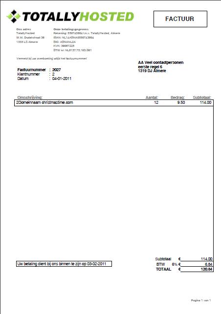 Total Invoice :: Online Factureren